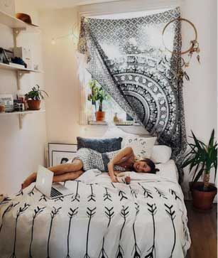 Black White Tapestry