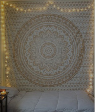 Gold Silver Tapestry